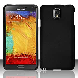 2-Item Combo: IMAGITOUCH(TM) 2-in-1 Stylus Point Pen, Phone Cover Samsung Galaxy Note 3 N9000 - Rubberized Case Cover Protector - Black