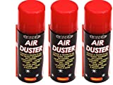 3 x Compressed Air Duster Spray 200ml Can Cleans