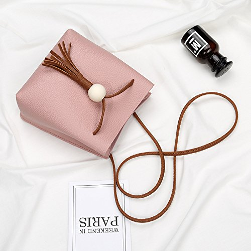 Da Tassel Pink Bag Bag Pouches Women's Bag Shoulder Cross Retro Gift with Bucket Body Wa Cosmetics Party XqarX
