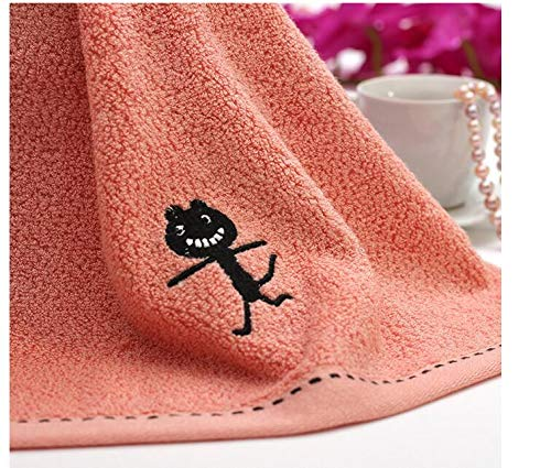 10pcs/lot! Black Cat Pattern Bamboo Fiber Towel Thicken Cotton Towel for Bath &Beach & Gym Use 3474cm by TT&QQ (Image #4)