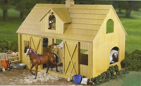 Breyer Traditional Deluxe Wood Horse Barn with Cupola Toy Model