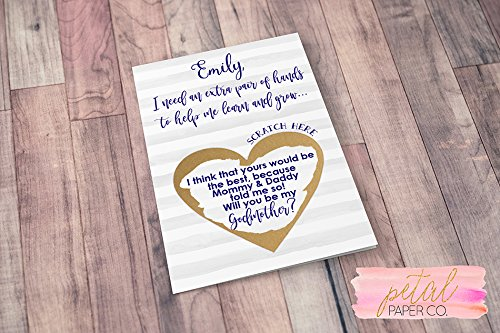 Amazon personalized scratch off will you be my godmother card personalized scratch off will you be my godmother card with metallic envelope godparents m4hsunfo