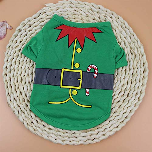 D-World4Pet Clothes - Christmas Santa Cosplay Pet Clothes XS-L Letter Dog Cat Clothing Winter Cartoon Soft T Shirt Puppy Costume Wholesale 11.11 ()