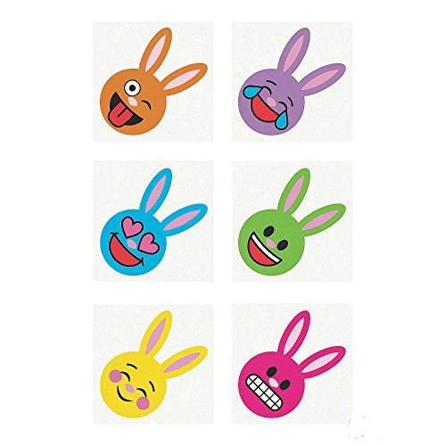 72 Easter Bunny Emoji TATTOOS temporary emoticon Egg