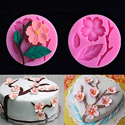 Phone Tattoo - Silicone Cake Molds 3d Peach Blossom Bakeware Decorating Chocolate Candy Baking Dish Pastry