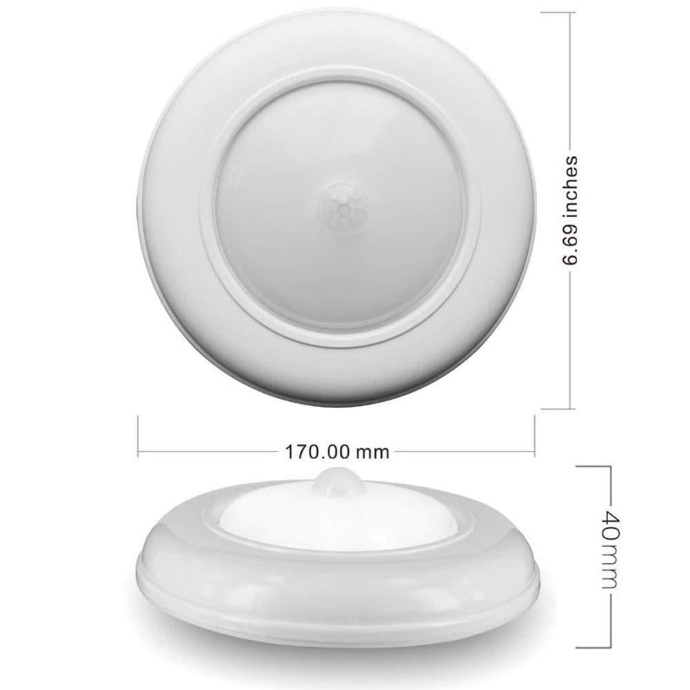 und Au/ßenbereich,Moderne Deckenleuchte Mit Fluroberfl/ächenhalterung F/ür Das Badezimmer White Ultra Helle Drahtlose Batteriebetriebene Bewegungsempfindliche LED-Deckenleuchte F/ür Den Innen