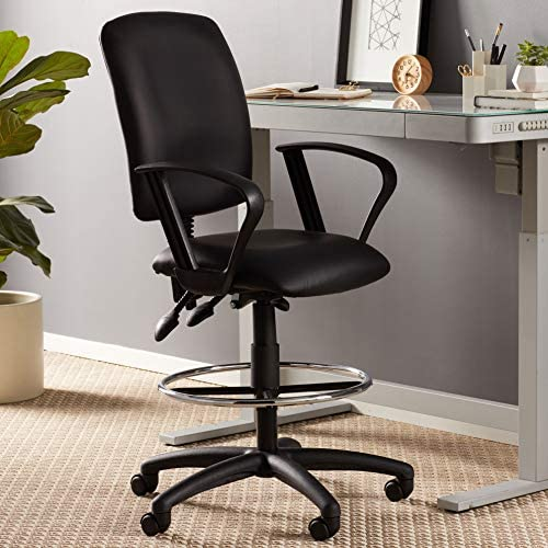 office products, office furniture, lighting, chairs, sofas,  drafting chairs 5 discount Boss Office Products Multi-Function LeatherPlus Drafting Stool in USA