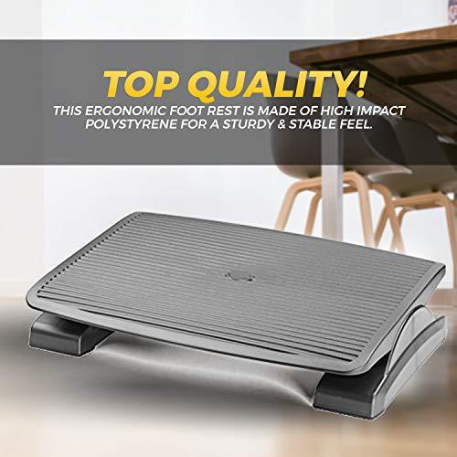 Under Desk Foot Rest, Black Footstool & Office Ergonomic Footrest, Adjustable Angle & 3 Positions, 17.6'' X 13.1'' - Great for Home & Work - 10 Pack by Halter (Image #7)