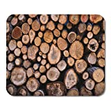 "Emvency Mouse Pads Silver Lodge Firewood Wood Hunting Fireplace Chalet Country Mouse pad 9.5"" x 7.9"" for Notebooks,Desktop Computers Accessories Mini Office Supplies Mouse Mats"