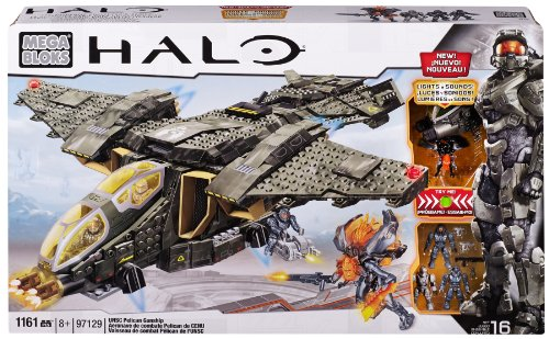 Mega Bloks Halo UNSC Pelican Gunship (Halo 4 Best Weapon)