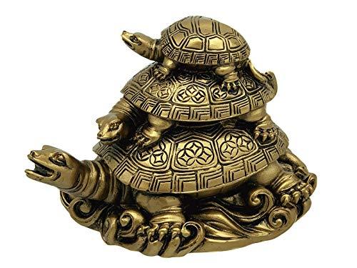 Feng Shui Three Tier Tortoise ( Three Generation Turtle) Statue Home Decor for Healthy andLongevity