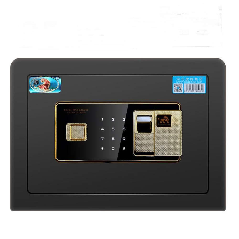 Caja fuerte para casa - Huellas dactilares Contraseña Gabinete Caja fuertes Incombustible e impermeable Caja fuerte con teclado digital (25cmX35cmX25cm): Amazon.es: Industria, empresas y ciencia