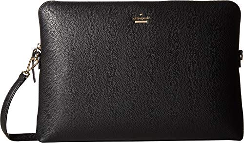 Women's Universal Pebbled Laptop Sleeve with Strap Black One Size ()