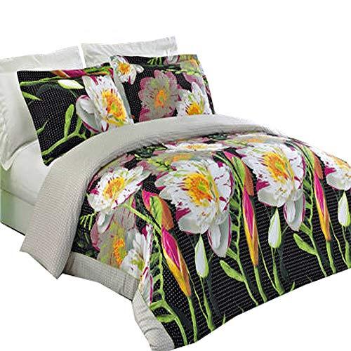 Athens Comforter Set - Royal Tradition Luxury 3PC- Athens- Full/Queen Duvet Cover Set 100% Cotton 300 Thread Count Fiber Reactive Prints Duvet Set