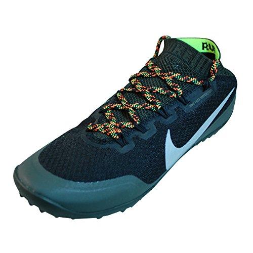 Scarpe Da Corsa Da Corsa Run Running Iperfeel Uomo Nike Free. Taglia 14. Calce Nera / Riflettente Argento-sq-flash