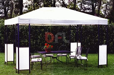 Gazebo In Ferro Battuto 3x4.Gazebo In Ferro Battuto Con Decori Pro Garden Venere Mt 3x4 Amazon