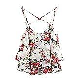 Best sannysis Friend Gifts Shirts - Sannysis 1PC Sexy Women Summer Floral Print Strap Review