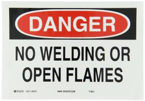 Brady 85197 Self Sticking Polyester Fire Sign, 7