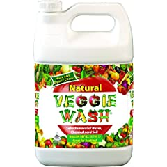 Veggie Wash All Natural Fruit and Vegetable Wash is a great choice for you and your family. Combat agricultural chemicals that aren't washed off by rain and irrigation. Remove coated wax on your fruits and vegetables, before they get to your ...