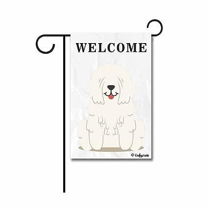 Amazon Com Kafepross Welcome To My Home Komondor Garden Flag The