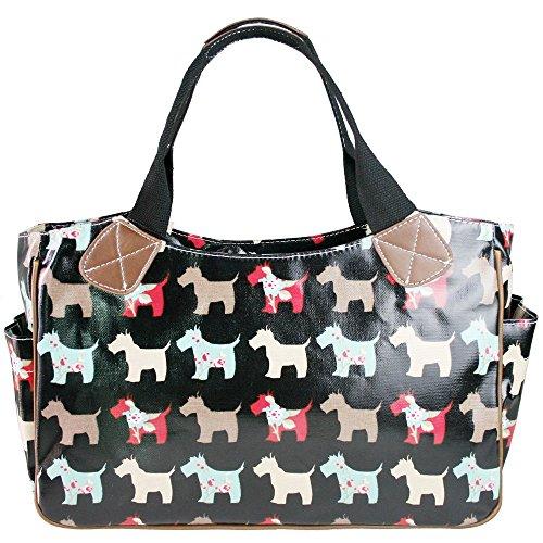 Lulu pois Dog Tela Scottie cane viaggio Miss gatto Black doona Gufo a fiori da Borsa Borsa Matte cerata farfalla Borsa tracolla a a Borsa dBEAwxqZ