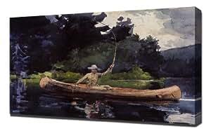 Winslow Homer - Playing Him Aka The North Woods - Impresión En Lienzo - Impresión Fine Art