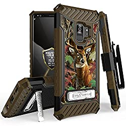 for Samsung Galaxy S9 TRI-Shield Series Rugged Heavy Duty Shock Resistant CASE [with Kickstand & Lanyard] for Galaxy S9 (SM-G960) (Deer Camo)