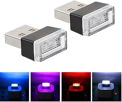 3 St/ück USB LED Lampe Leselampe Blau