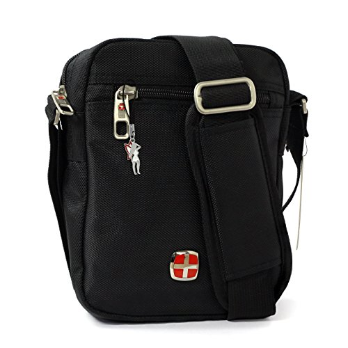 New Bags - Bolso al hombro para hombre negro negro