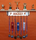 metal and trophy display shelf - Hockey Trophy Shelf and Medal Display