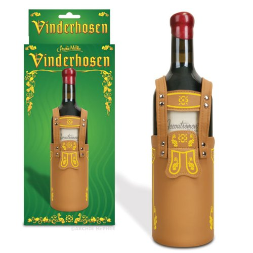 Vinderhosen Lederhosen Wine Bottle Cover