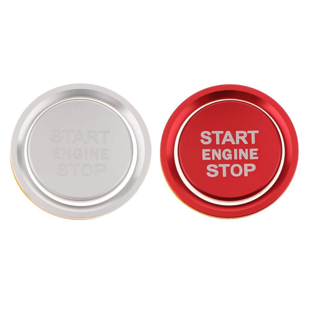 einfach zu installieren Auto Motor Startknopf Ersatz Abdeckung Stop-Schalter Zubeh/ör Key Decor f/ür Audi A4L A6L Q5L A5 A7