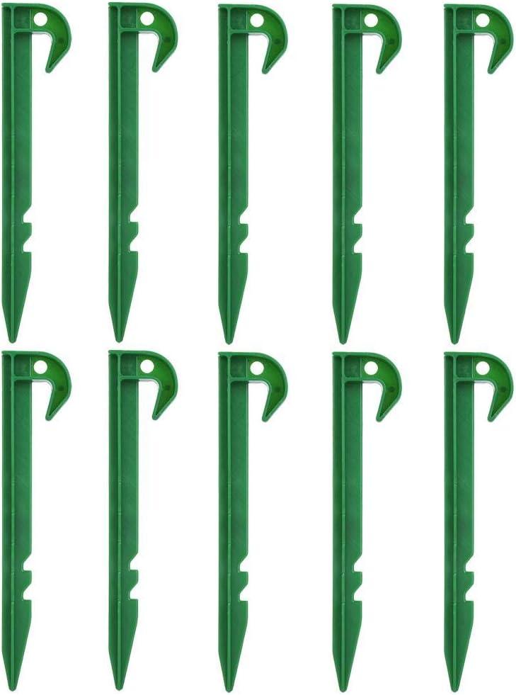 Ausla Lot de 10 piquets en Plastique de Fixation pour Poteau de cl/ôture de Jardin /à Terre pour la Fixation du Tissu