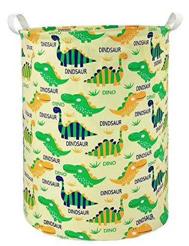 HOUSESTORAGE Laundry Hamper Storage Bin Baskets Foldable Nursery Laundry Basket for Organizing Kids Toy/Office/Bedroom/Toy Bin/Closet/Shelf Baskets/Baby Hamper (Dinosaur)