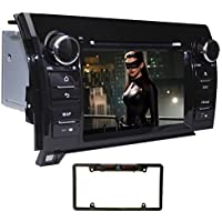 YINUO 7 inch Wince 6.0 Touch Screen 2DIN Car DVD Player Stereo In Dash GPS Navigation Receiver With Bluetooth for Toyota Tundra 2007-2013 Sequoia 2008-2013, Rear View Camera