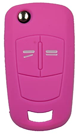 1 x funda para llave de coche - funda de silicona - Opel mando a distancia 2 botones - funda protectora - llave abatible - carcasa - funda - cubierta ...