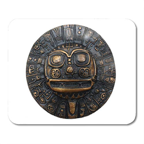 Emvency Mouse Pads Aztec Ancient Symbol Inca Calendar Mexican Mexico American Artifacts Mouse Pad for notebooks, Desktop Computers mats 9.5