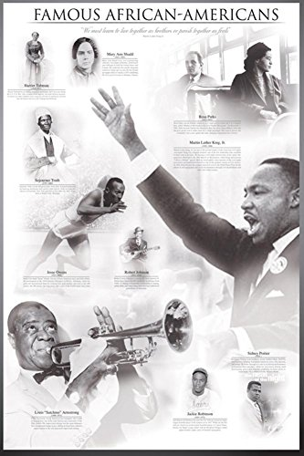 Famous African-Americans Poster 24 x 36in