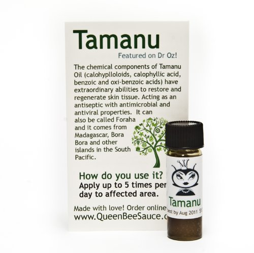 100% Pure Huile de Tamanu Solution biologique pour l'acné, les brûlures, l'eczéma et plus
