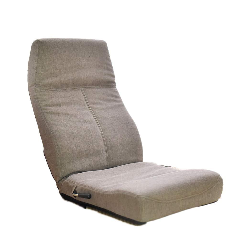 Qing MEI- Lazy Couch Tatami Rücken Faltbare Liege Bett Bay Fenster Computerstuhl Bodenstehend   Verstellbarer Bodenstuhl -6 Verstellbar (Farbe   B) C