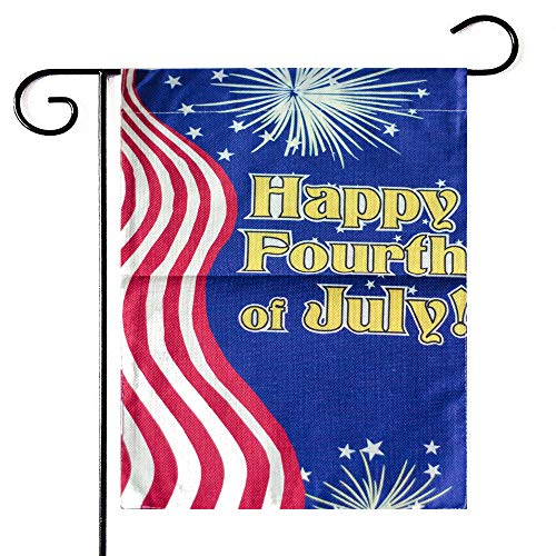 Purple Star American 4th of July Outdoor Garden Flag - 12