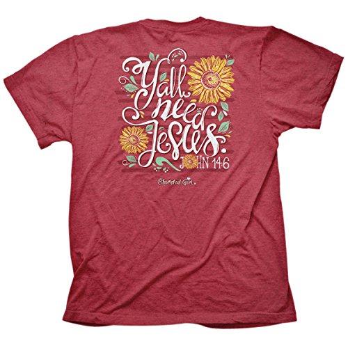 Cherished Girl-Yall Need Jesus Adult T-Shirt- - Christian Fashion Gifts