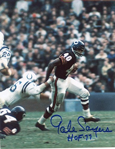 GALE SAYERS HOF 77 CHICAGO BEARS SIGNED AUTOGRAPHED 8X10 PHOTO (Gale Sayers Autographed Bears)