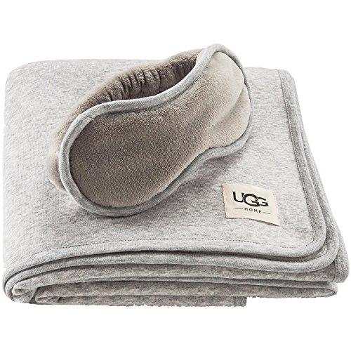 Price comparison product image UGG Duffield Travel Throw Blanket and Eye Mask Set (Grey)