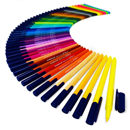 Staedtler Triplus Color Pens - Metal Gift Tin of 50 Brilliant Colours - 1.0mm by Staedtler (Image #3)