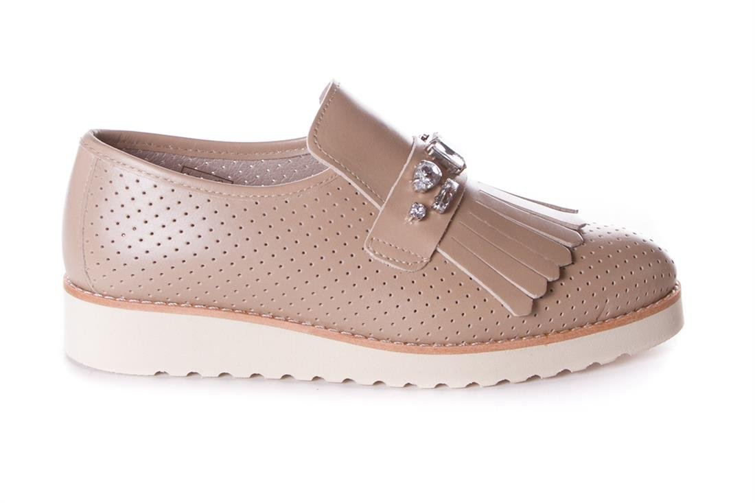 Zapato Mocasin Flecos 39 EU Beige En línea Obtenga la mejor oferta barata de descuento más grande