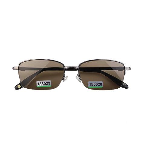 GOODLQ Medio Marco Conductor Gafas de Sol Natural Cristal ...