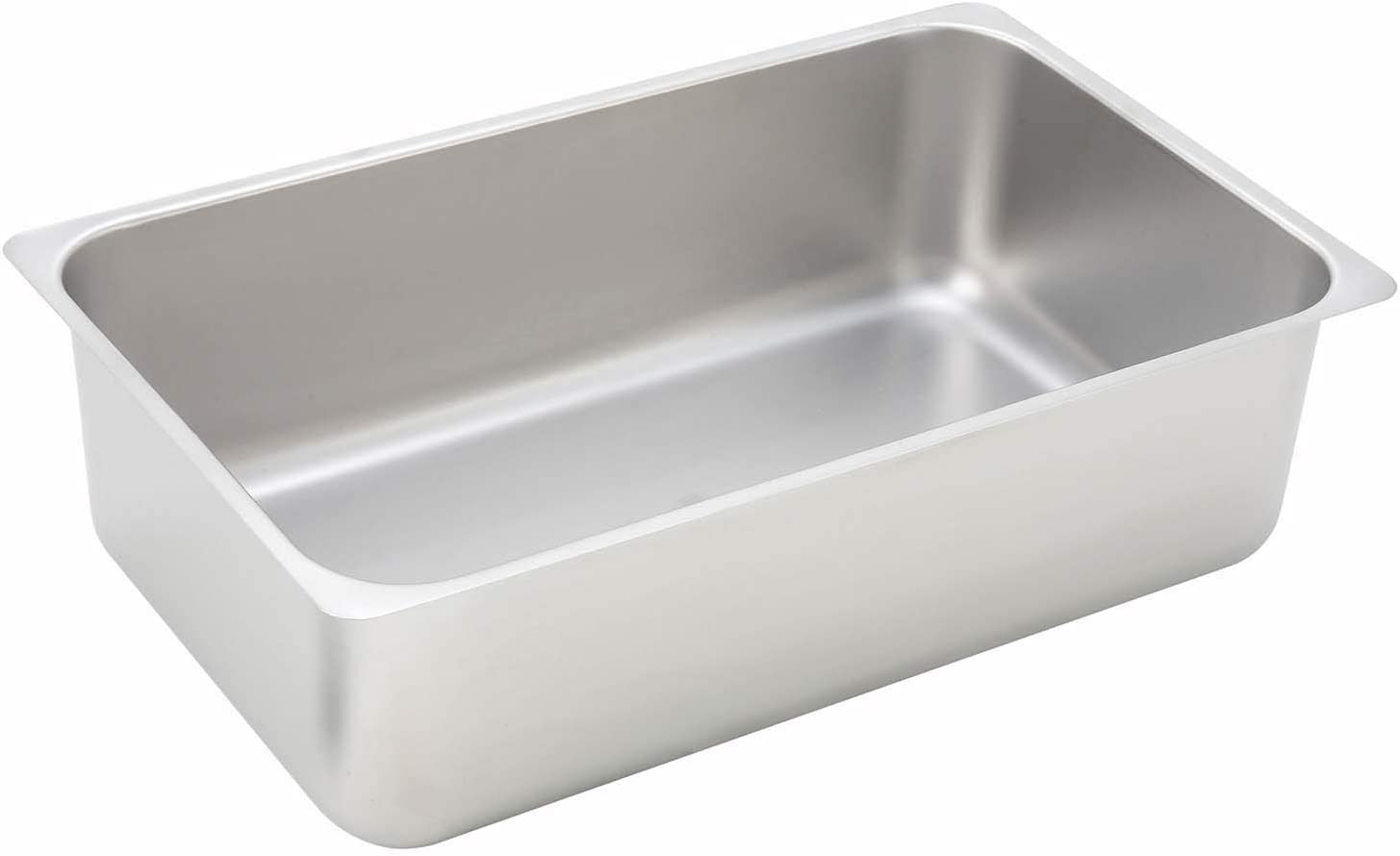 Winco 6-Inch Deep Stainless Steel Spillage Pan, Full Size