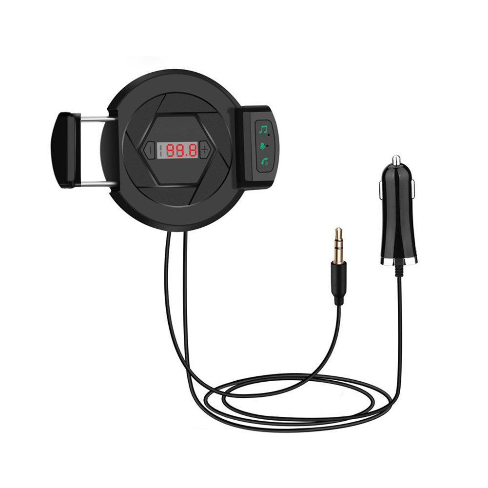 Lennov transmetteur FM Bluetooth 4.1HiFi sans fil adaptateur radio, chargeur de voiture 3en 1[rapide] [support de téléphone mains libres Micro de] [] aux 3,5mm entrée/Bluetooth pou