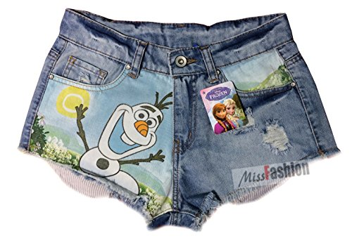 vita Olaf denim Frozen Girls 12 alta EU Disney Ladies taglia pantaloncini qt4gHH